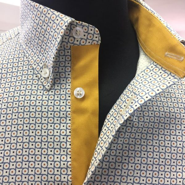 blue and yellow mens shirt